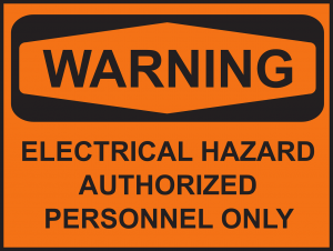 warning of electrical hazard