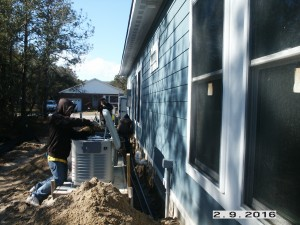 Josh working on installing a new, 20 Kw, whole house generator.