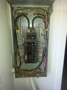 Panel With Burned Feeder Wires E X on electrical wiring safety