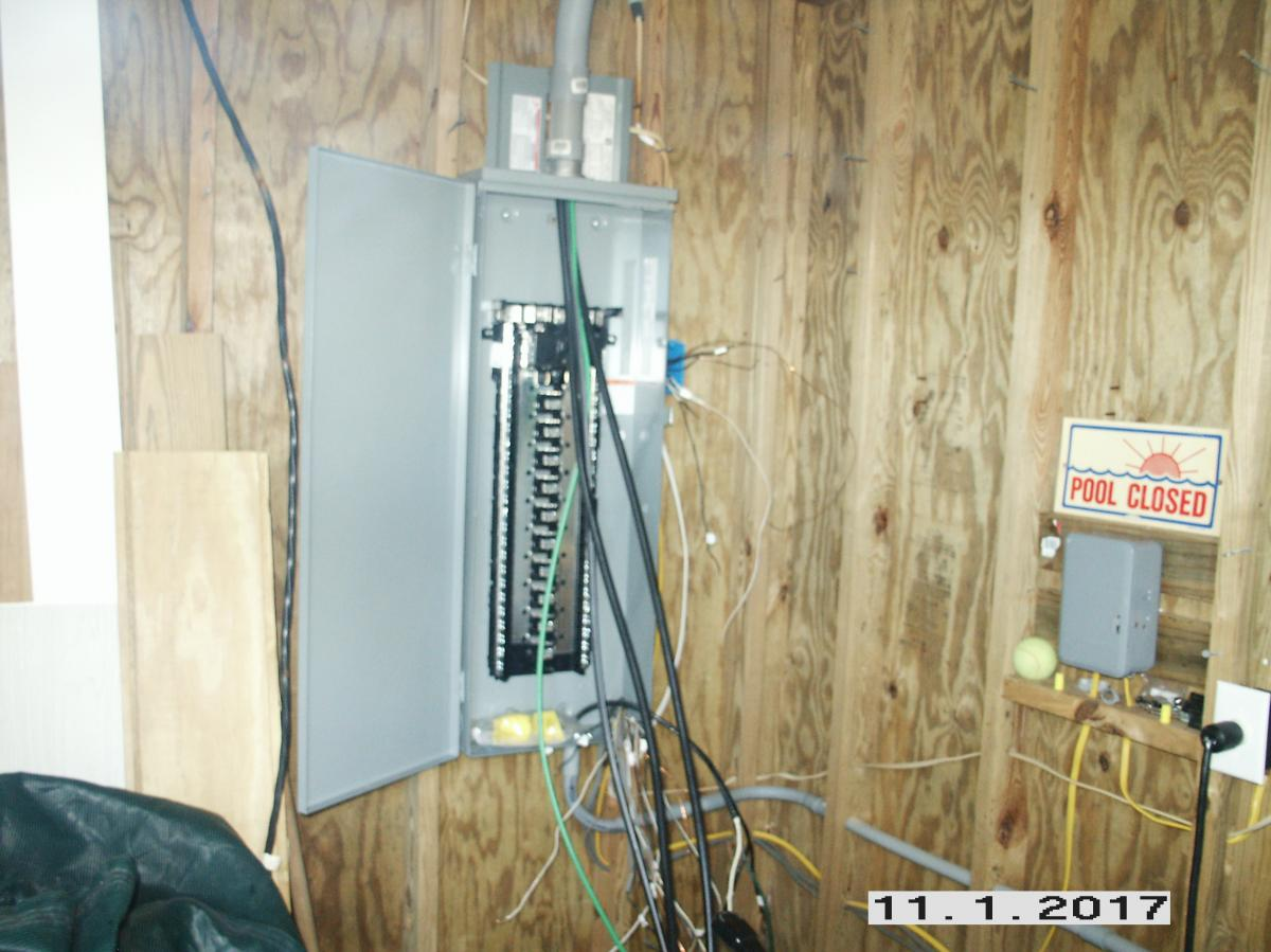 Gallery His Her Electric Llc Main Panel Wiring New 200 Amp For Pool Equipment Hot Tubs And Other Outdoor Circuits