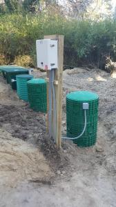 Pump control panel for engineered septic system 1