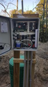 Pump control panel for engineered septic system 2