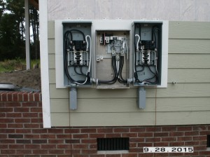 400 amp service with two 200 amp disconnect panels
