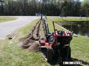 trenching for buried cable installation #1
