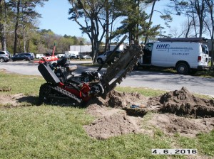 trenching for buried cable installation #2